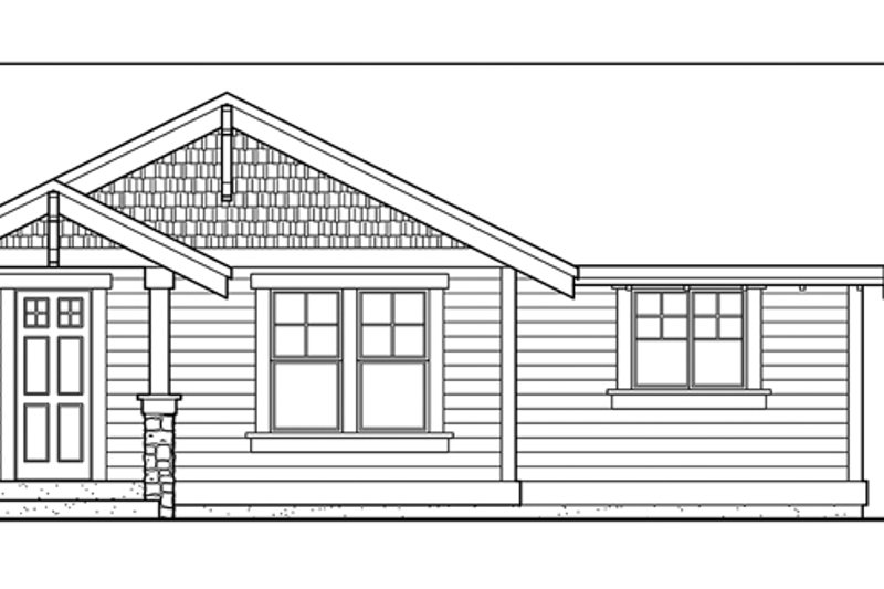 Craftsman Exterior - Front Elevation Plan #132-525 - Houseplans.com