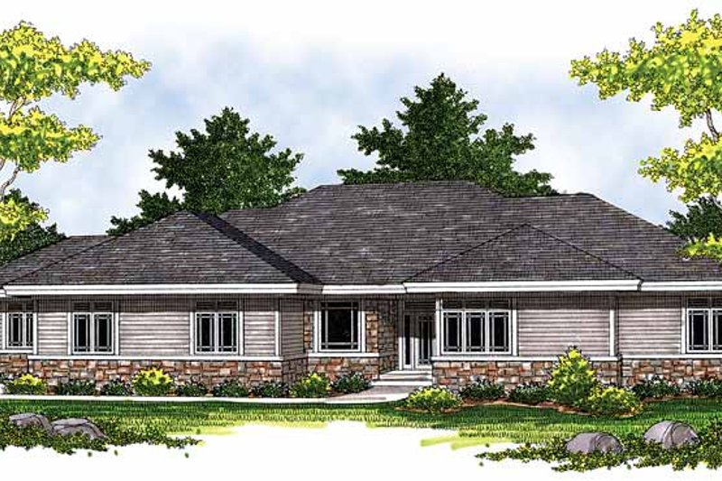 Ranch Exterior - Front Elevation Plan #70-1402