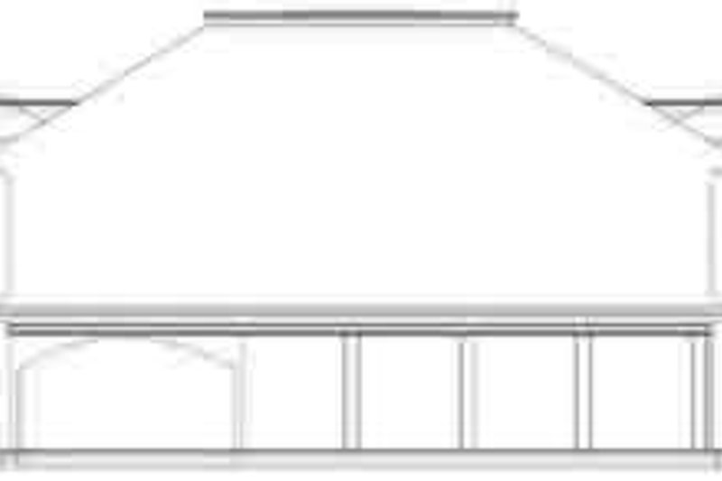 European Exterior - Rear Elevation Plan #119-227 - Houseplans.com