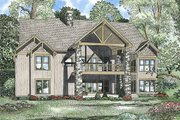 Craftsman Style House Plan - 6 Beds 4.5 Baths 6089 Sq/Ft Plan #17-2375 Exterior - Rear Elevation