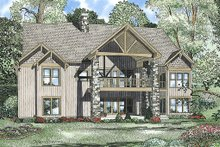 House Plan Design - Craftsman Exterior - Rear Elevation Plan #17-2375