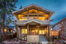 Craftsman Exterior - Rear Elevation Plan #895-92