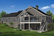 House Plan Design - Craftsman Exterior - Rear Elevation Plan #1057-26