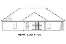 House Plan Design - Contemporary Exterior - Rear Elevation Plan #17-2891