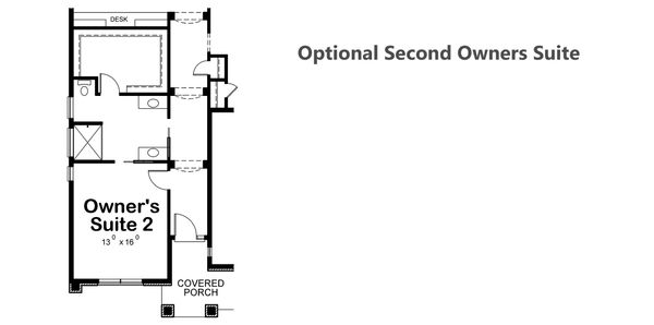 House Plan Design - Optional Second Owner's Suite