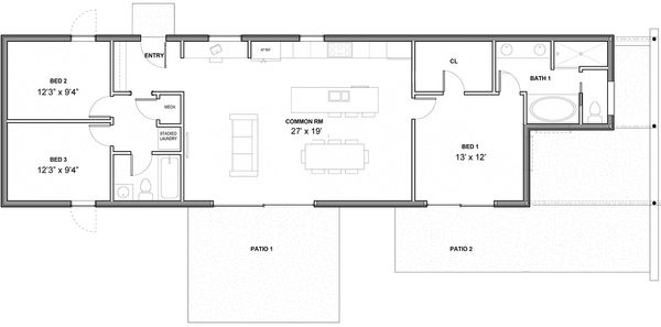 Modern Floor Plan - Main Floor Plan #497-35