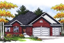 Dream House Plan - Traditional Exterior - Front Elevation Plan #70-832