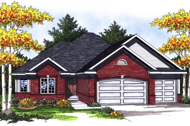 Traditional Exterior - Front Elevation Plan #70-832 - Houseplans.com