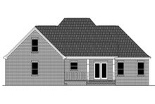Home Plan - Traditional Exterior - Rear Elevation Plan #21-430