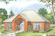 Country Style House Plan - 2 Beds 2.5 Baths 1256 Sq/Ft Plan #140-163 Exterior - Front Elevation