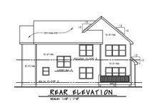 Home Plan - Traditional Exterior - Rear Elevation Plan #20-2279