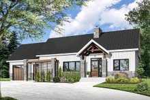 Architectural House Design - Ranch Exterior - Front Elevation Plan #23-2637