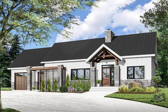 House Plan Design - Ranch Exterior - Front Elevation Plan #23-2637