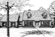 Colonial Style House Plan - 4 Beds 2.5 Baths 2737 Sq/Ft Plan #310-119 Exterior - Front Elevation