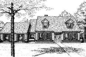 Colonial Exterior - Front Elevation Plan #310-119