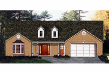 Dream House Plan - Traditional Exterior - Front Elevation Plan #3-131
