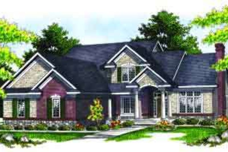 Colonial Exterior - Front Elevation Plan #70-627