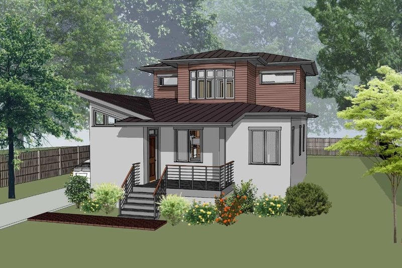 Architectural House Design - Modern Exterior - Front Elevation Plan #79-302