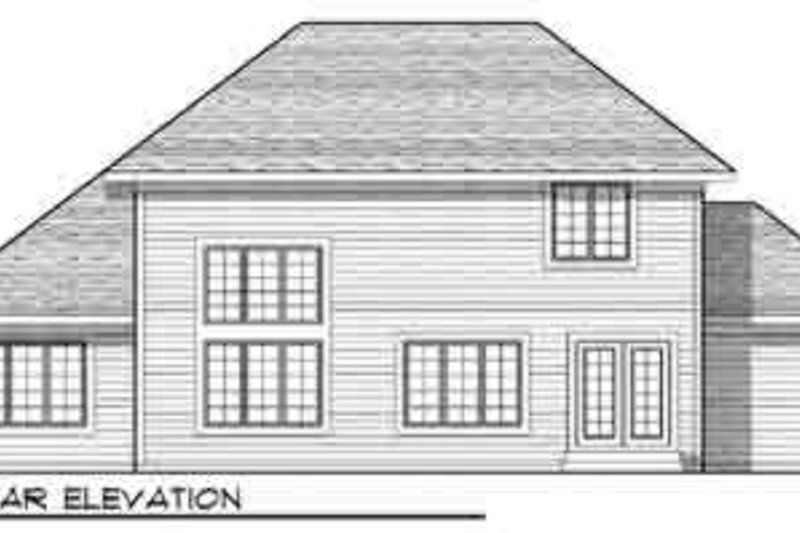 Traditional Exterior - Rear Elevation Plan #70-835 - Houseplans.com