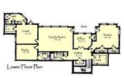 Craftsman Style House Plan - 4 Beds 4.5 Baths 4812 Sq/Ft Plan #921-23 Floor Plan - Lower Floor