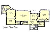 Craftsman Style House Plan - 4 Beds 4.5 Baths 4812 Sq/Ft Plan #921-23 Floor Plan - Lower Floor Plan