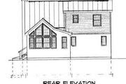 Country Style House Plan - 3 Beds 2 Baths 1483 Sq/Ft Plan #75-148 Exterior - Rear Elevation