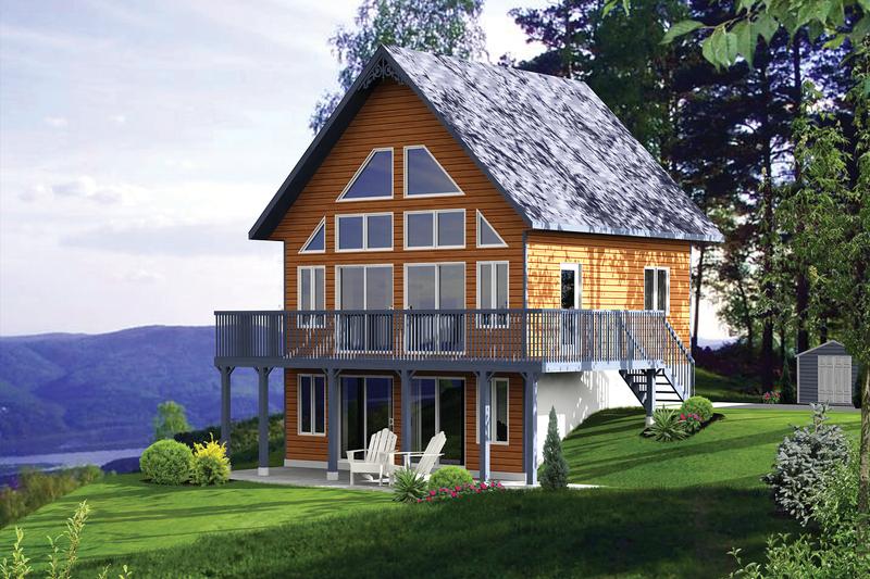 House Design - Cabin Exterior - Front Elevation Plan #25-4272