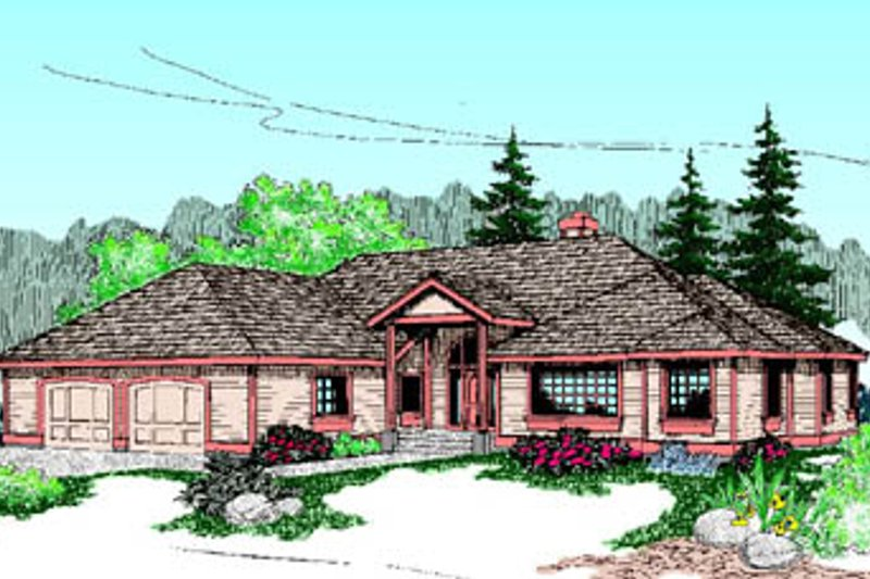 Traditional Exterior - Front Elevation Plan #60-191 - Houseplans.com