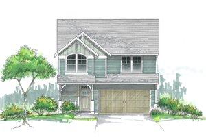 Craftsman Exterior - Front Elevation Plan #53-477