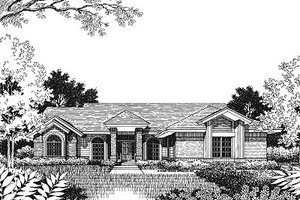 Modern Exterior - Front Elevation Plan #417-150