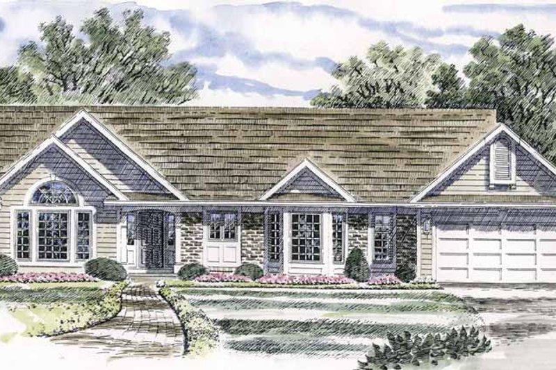 Ranch Exterior - Front Elevation Plan #316-127 - Houseplans.com