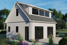 Country Exterior - Front Elevation Plan #1064-24