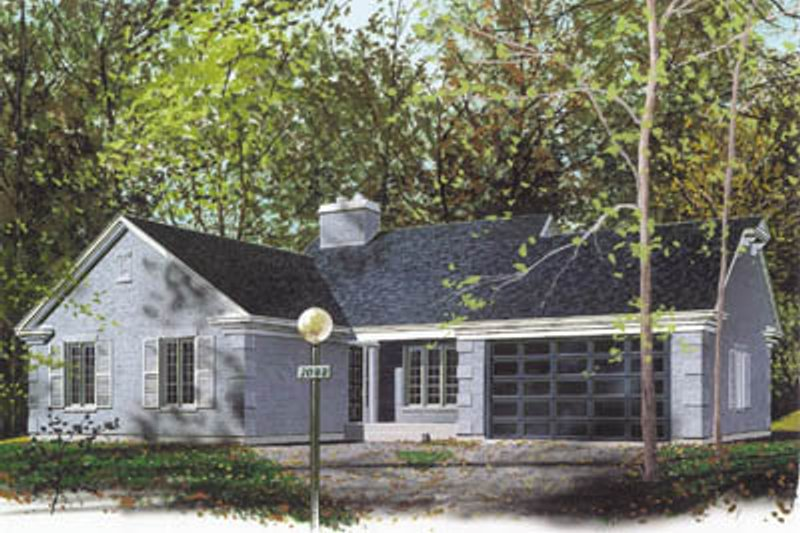 Ranch Exterior - Front Elevation Plan #23-173