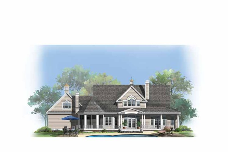 Country Exterior - Rear Elevation Plan #929-857 - Houseplans.com