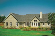 Dream House Plan - Country Exterior - Rear Elevation Plan #929-377