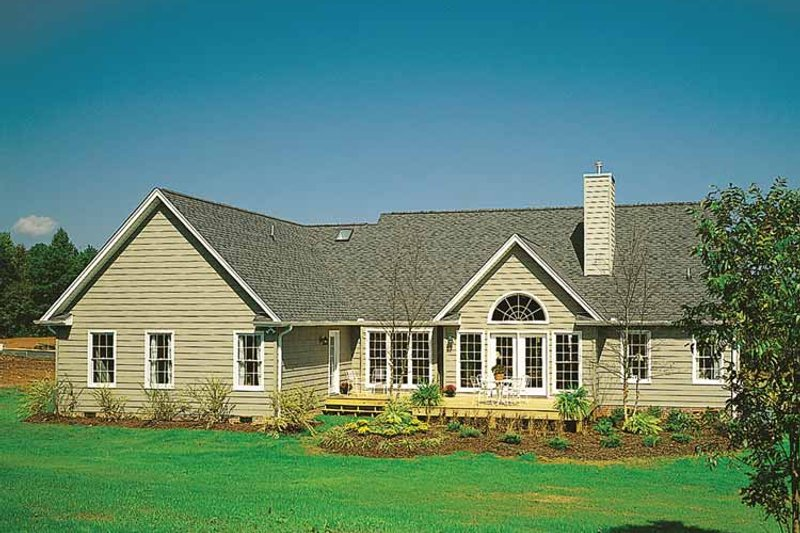 Country Exterior - Rear Elevation Plan #929-377 - Houseplans.com