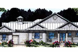 Country Exterior - Front Elevation Plan #1007-53