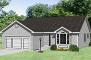Traditional Style House Plan - 3 Beds 2 Baths 1100 Sq/Ft Plan #116-147 Exterior - Front Elevation