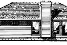 Home Plan Design - Traditional Exterior - Rear Elevation Plan #20-135