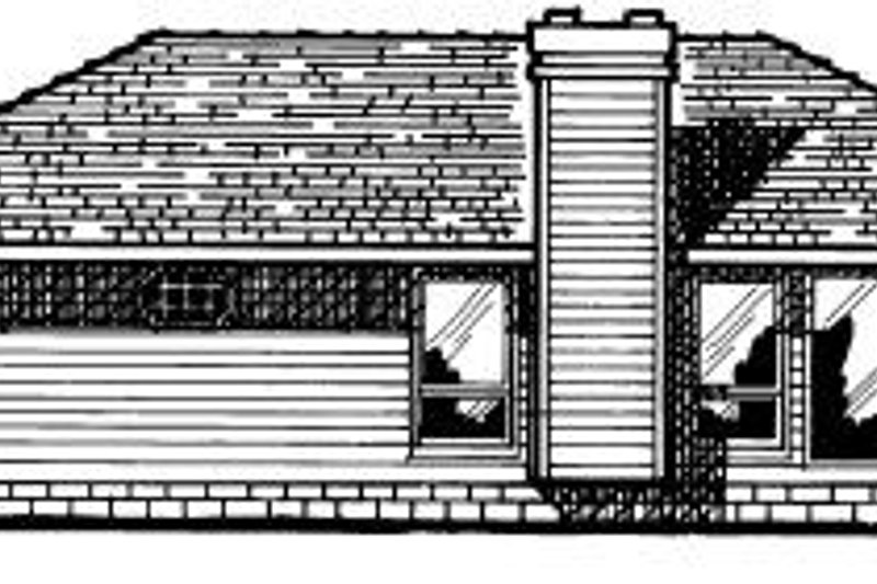 Traditional Exterior - Rear Elevation Plan #20-135 - Houseplans.com