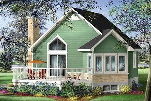 Contemporary Exterior - Front Elevation Plan #25-4192