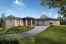 Architectural House Design - Mediterranean Exterior - Front Elevation Plan #132-279