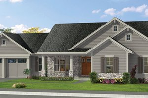Craftsman Exterior - Front Elevation Plan #46-840