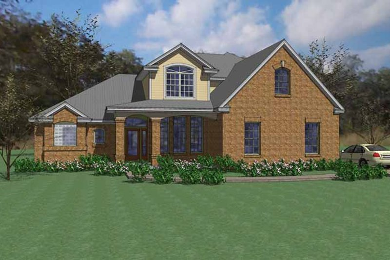 Traditional Exterior - Front Elevation Plan #120-241 - Houseplans.com