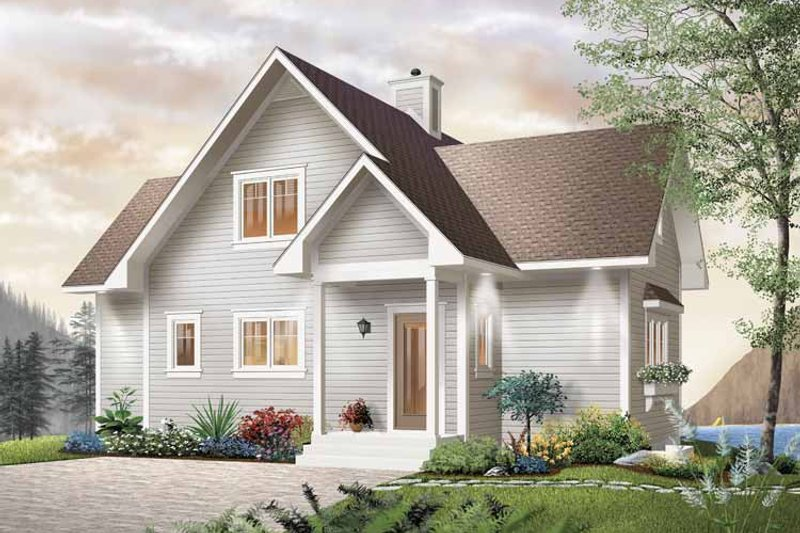 Country Style House Plan - 2 Beds 2 Baths 1480 Sq/Ft Plan #23-2367 Exterior - Front Elevation