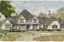 Architectural House Design - European Exterior - Front Elevation Plan #928-65