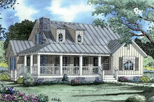 Architectural House Design - Colonial Exterior - Front Elevation Plan #17-2884