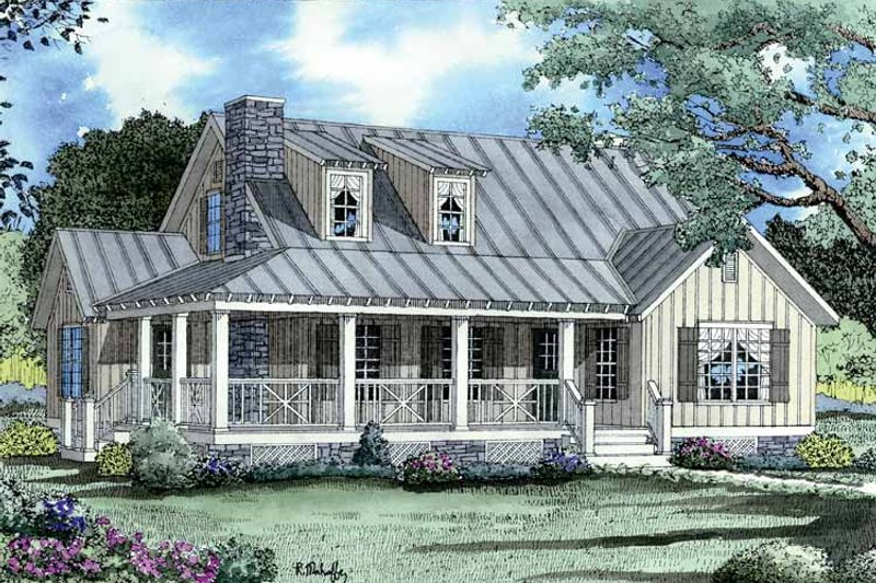 Colonial Exterior - Front Elevation Plan #17-2884