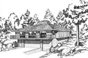 Contemporary Style House Plan - 2 Beds 1.5 Baths 1254 Sq/Ft Plan #312-764 Exterior - Front Elevation