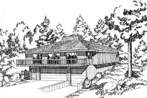 Contemporary Exterior - Front Elevation Plan #312-764